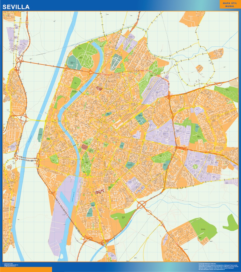 Mapa callejero Sevilla