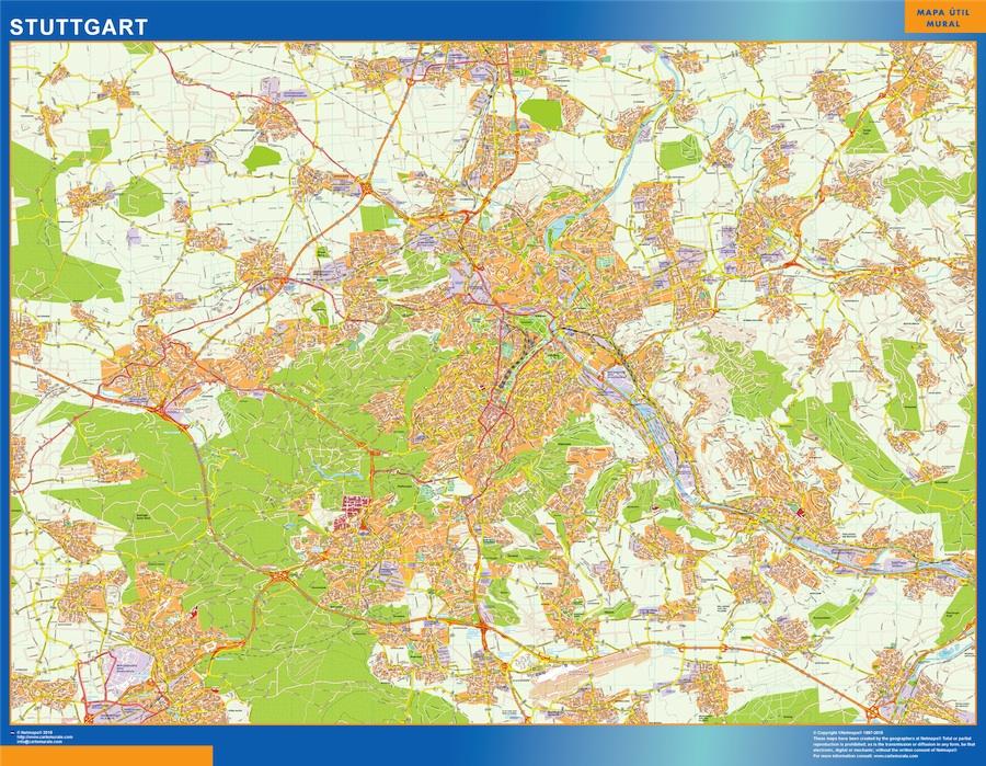 Mapa Stuttgart