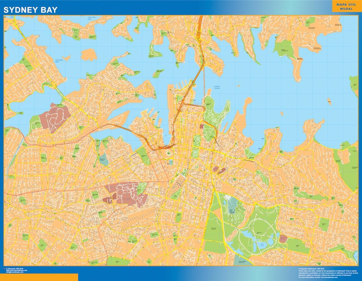 Mapa Sydney Bay