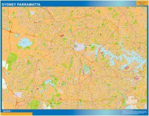 Mapa Sydney Parramatta