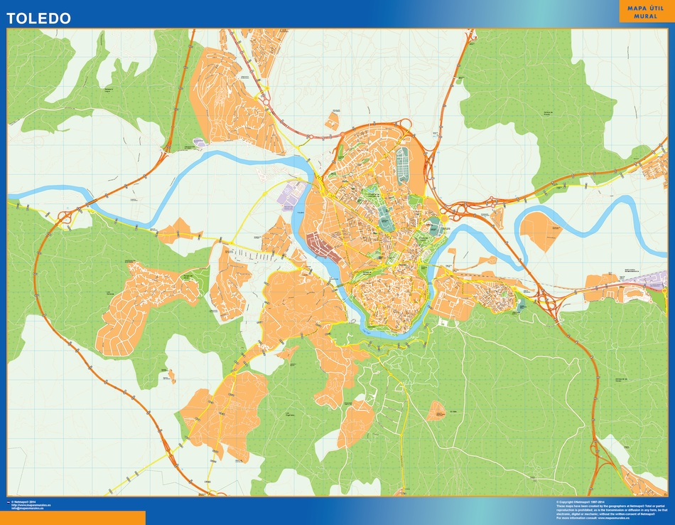 Mapa Toledo callejero