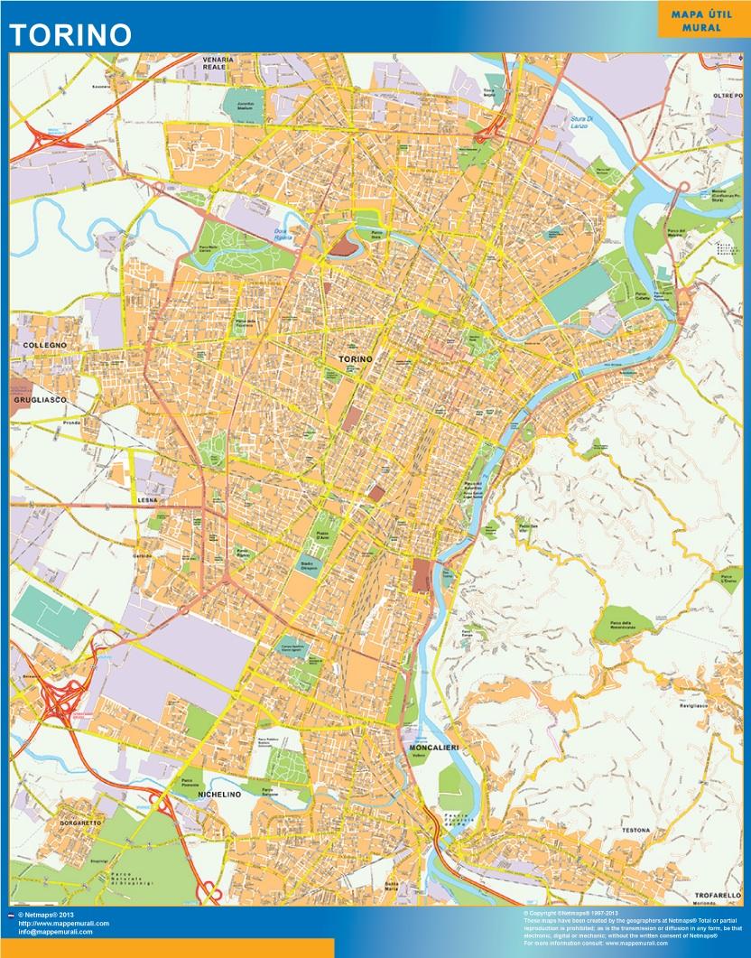 Mapa Torino