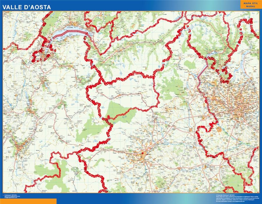 Mapa Valle Aosta