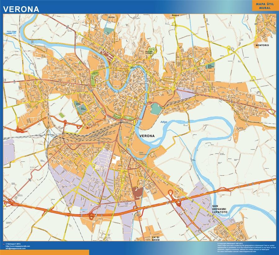 Mapa Verona
