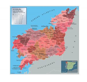 Mapa Municipios A Coruna