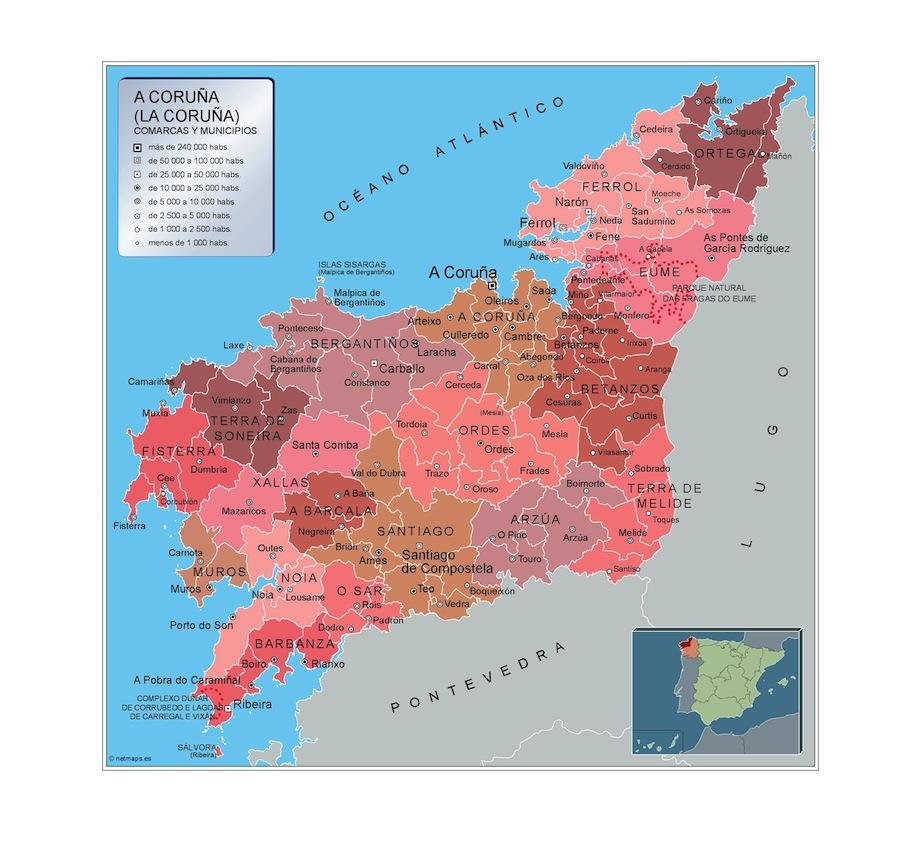 Municipios A Coruna