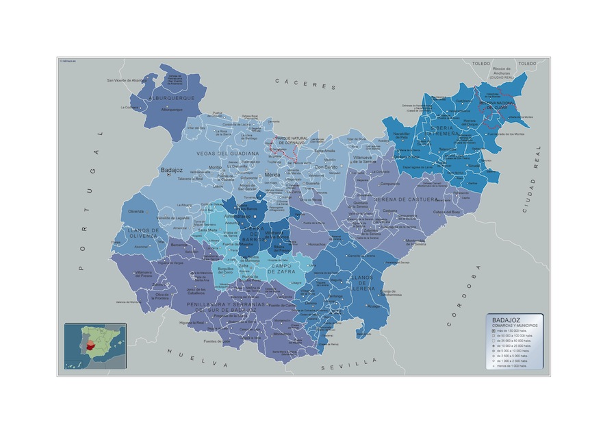 Municipios Badajoz