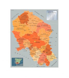Mapa Municipios Cordoba