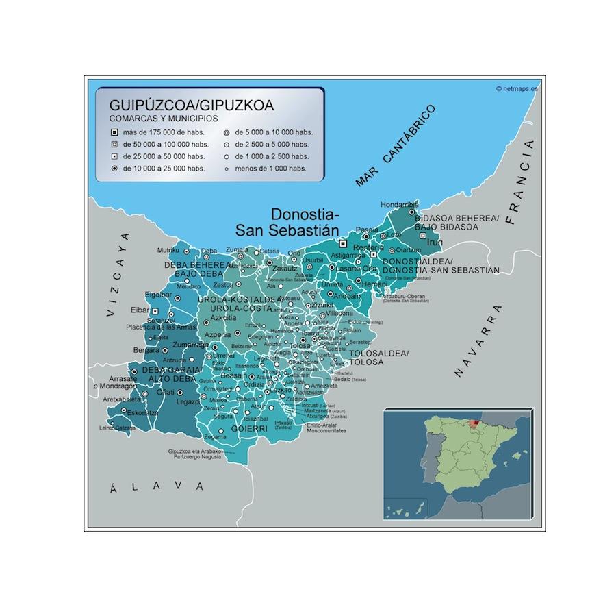 Municipios Guipuzcoa