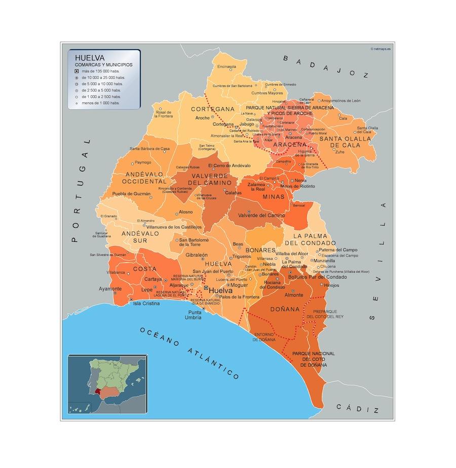 Mapa Municipios Huelva