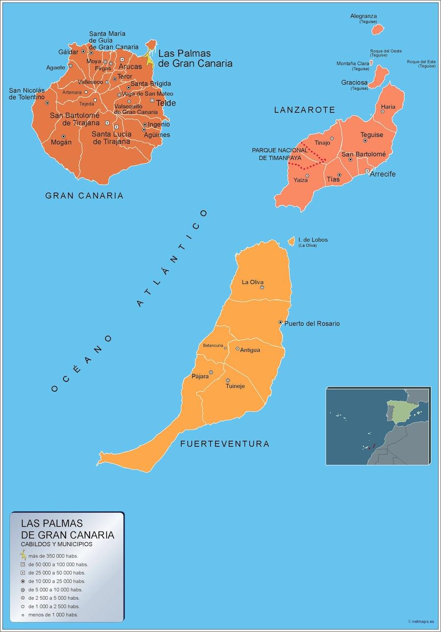 Municipios Las Palmas Gran Canaria