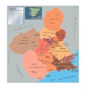 Mapa Municipios Murcia Region