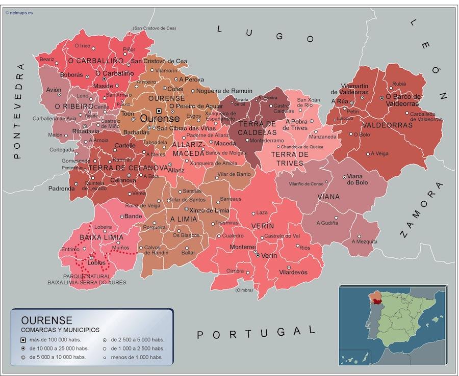 Municipios Ourense