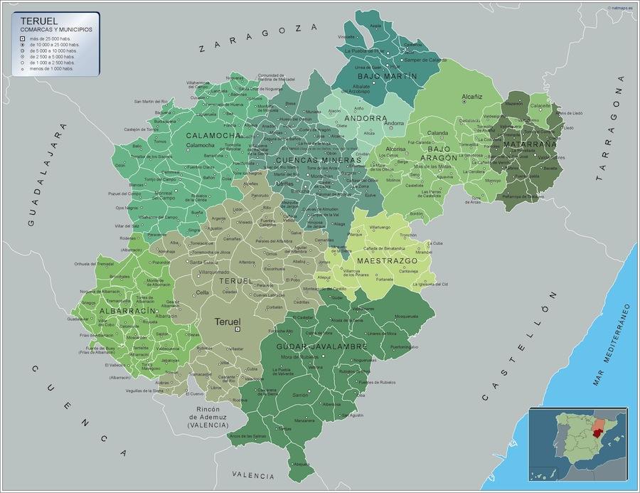 Municipios Teruel