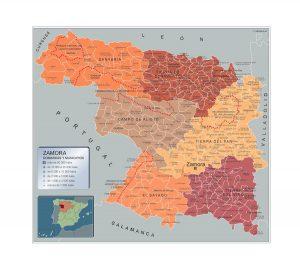 Mapa Municipios Zamora