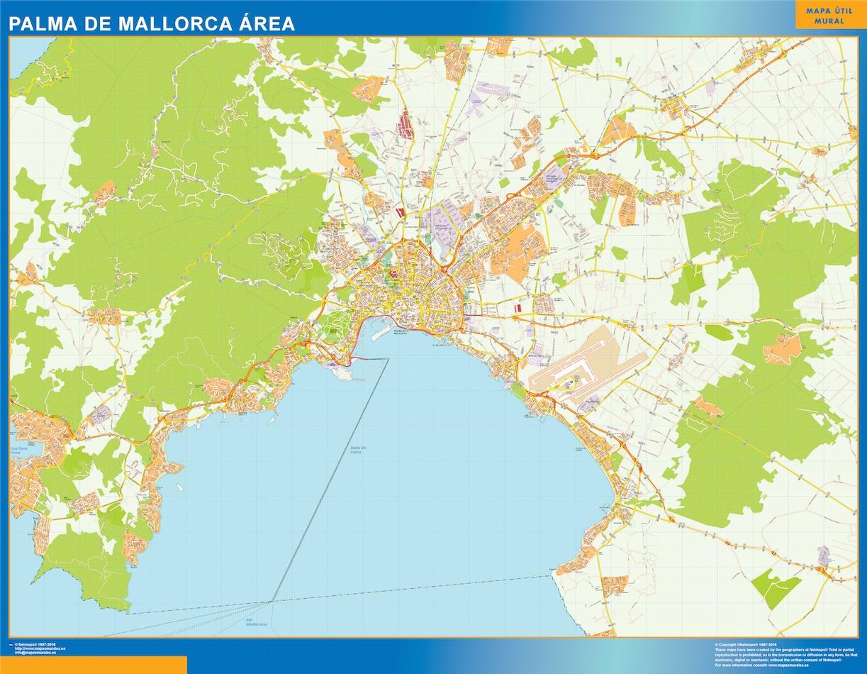 Palma Mallorca Mapa Area