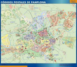 Mapa Pamplona Codigos Postales