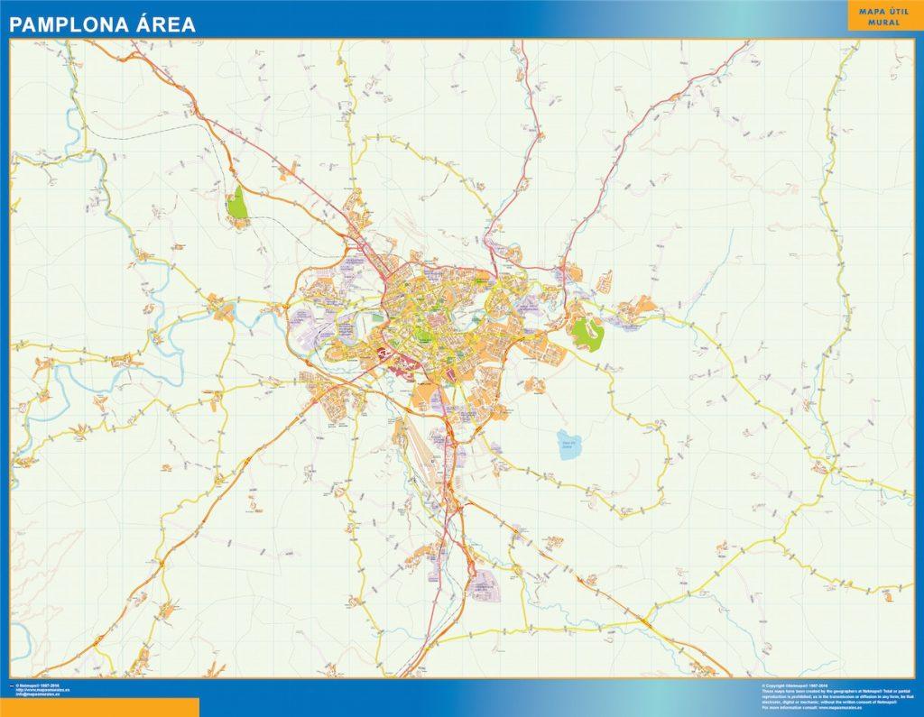 Pamplona Mapa Area