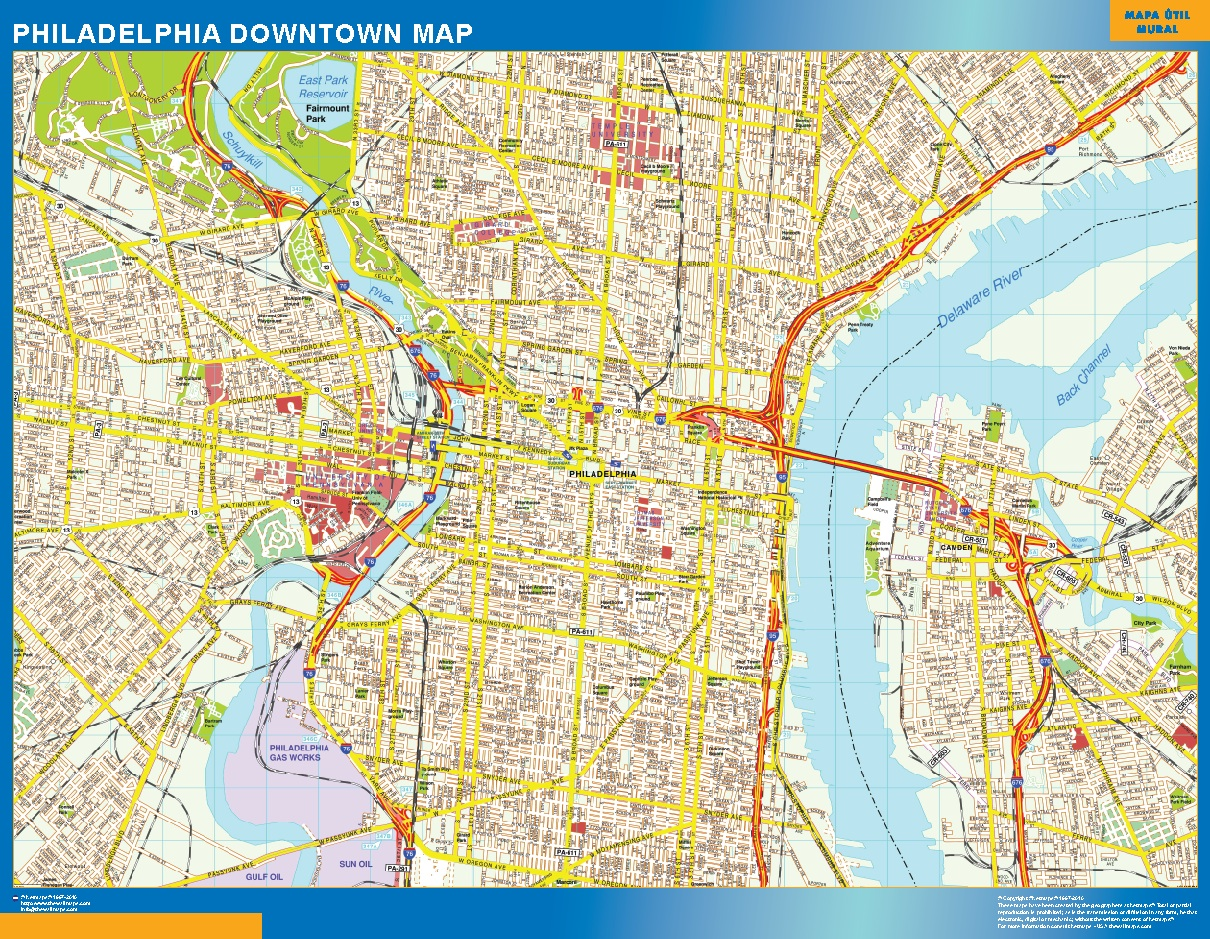 Philadelphia Mapa Centro