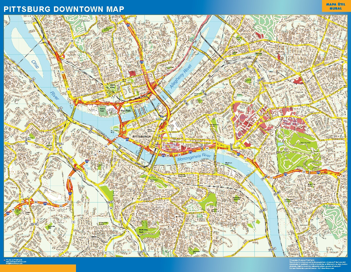 Pittsburg Mapa Centro