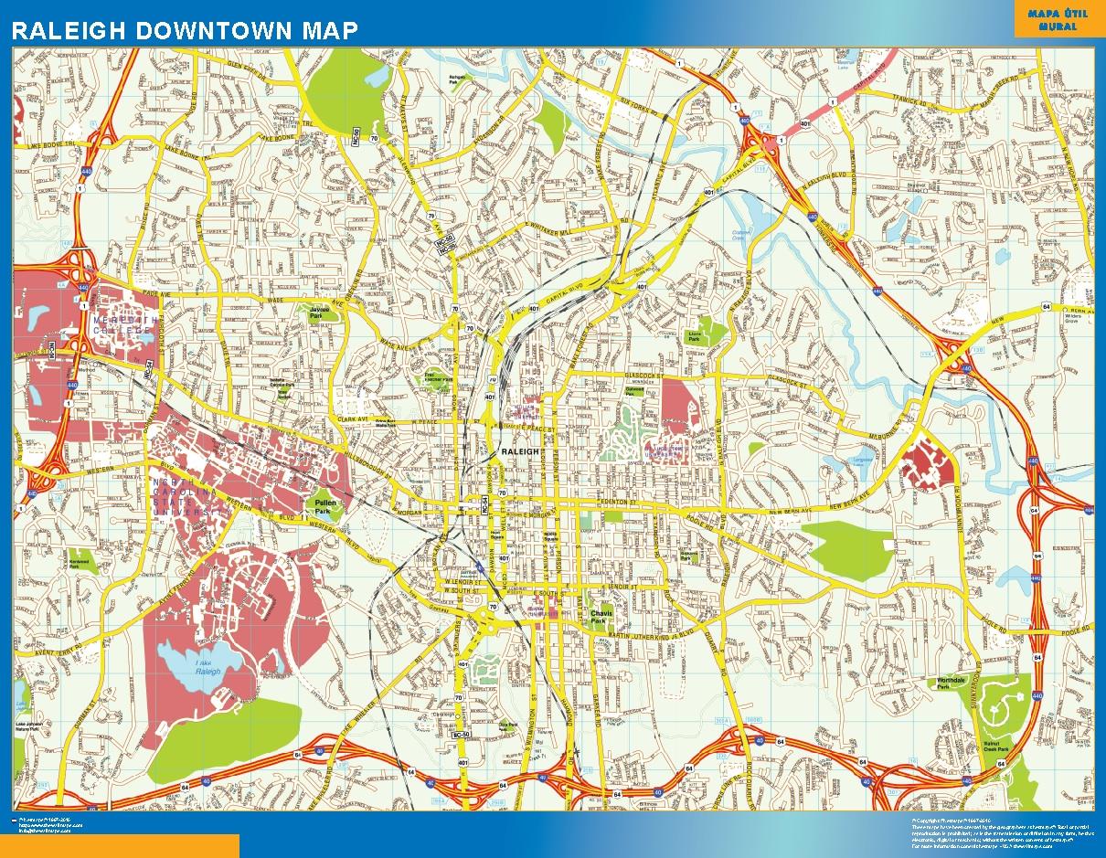 Raleigh Mapa Centro
