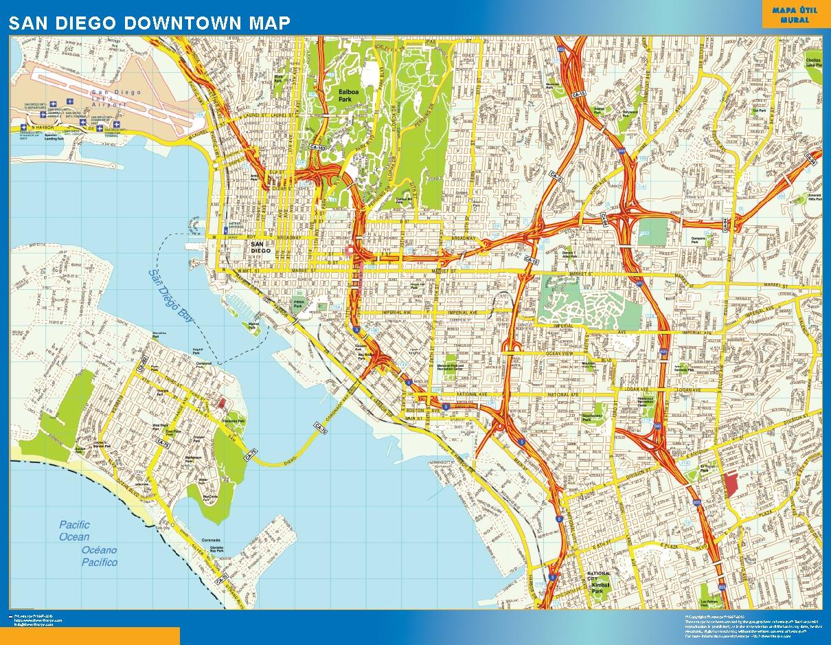 San Diego Mapa Centro