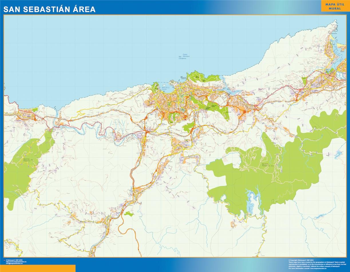 San Sebastian Mapa Area
