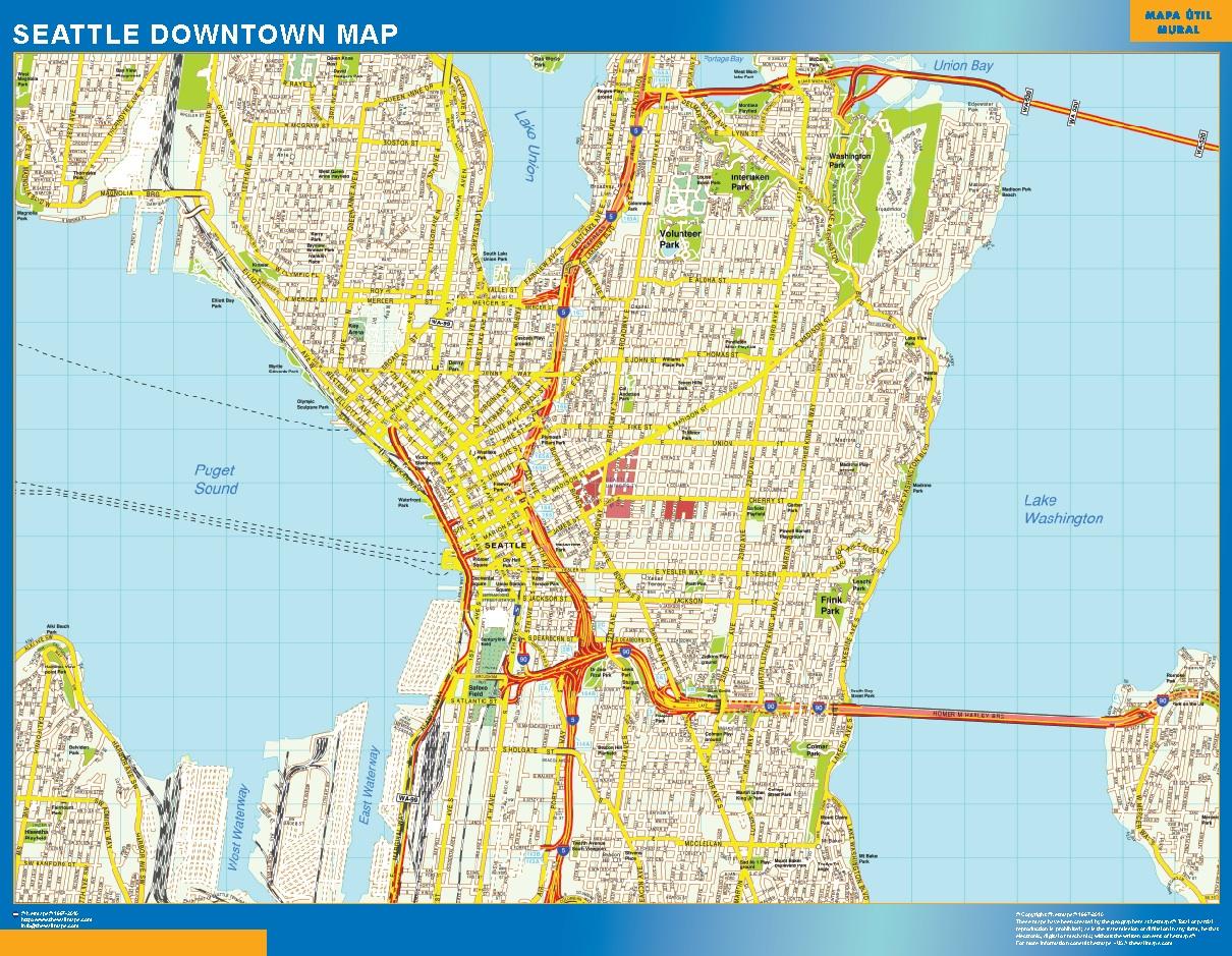 Seattle Mapa Centro