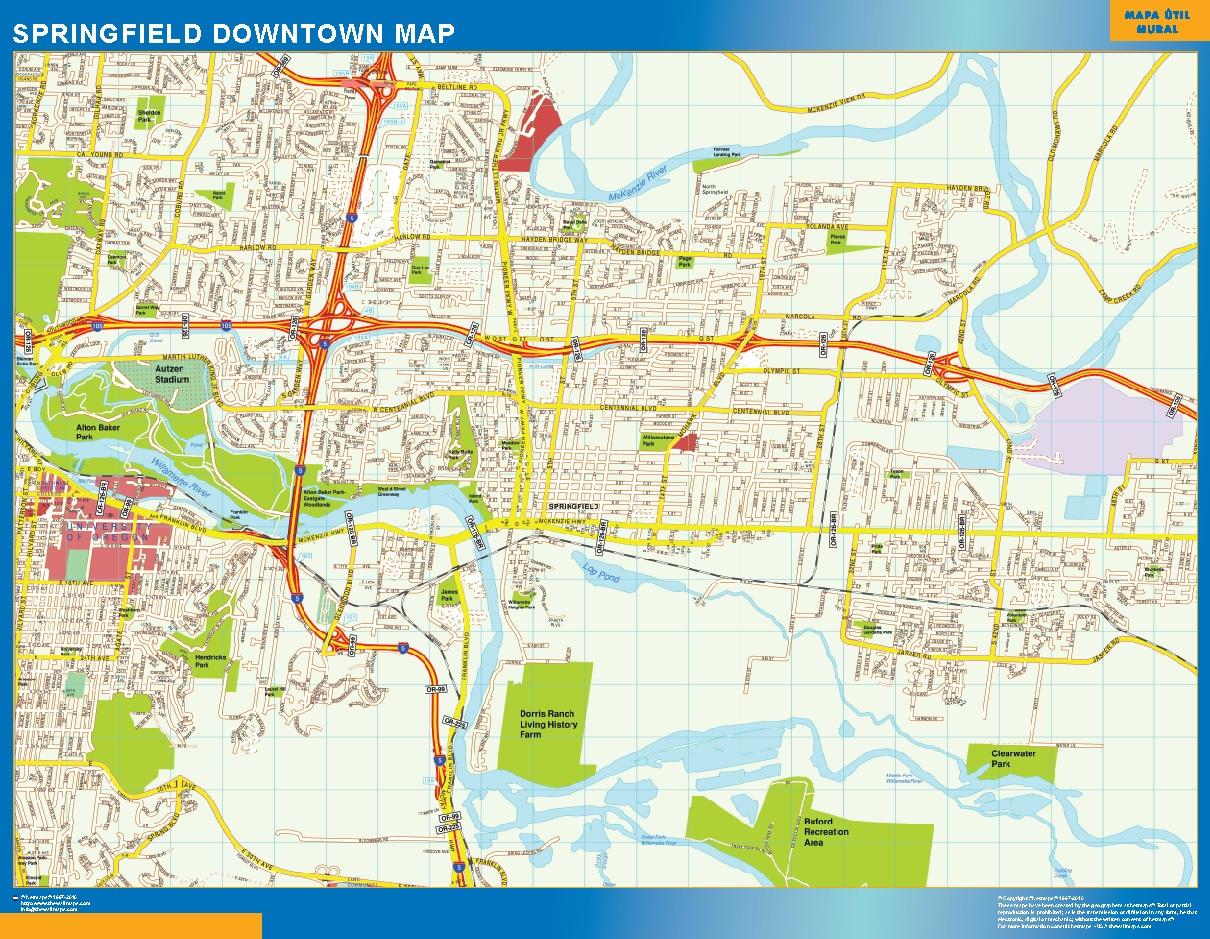Springfield Mapa Centro