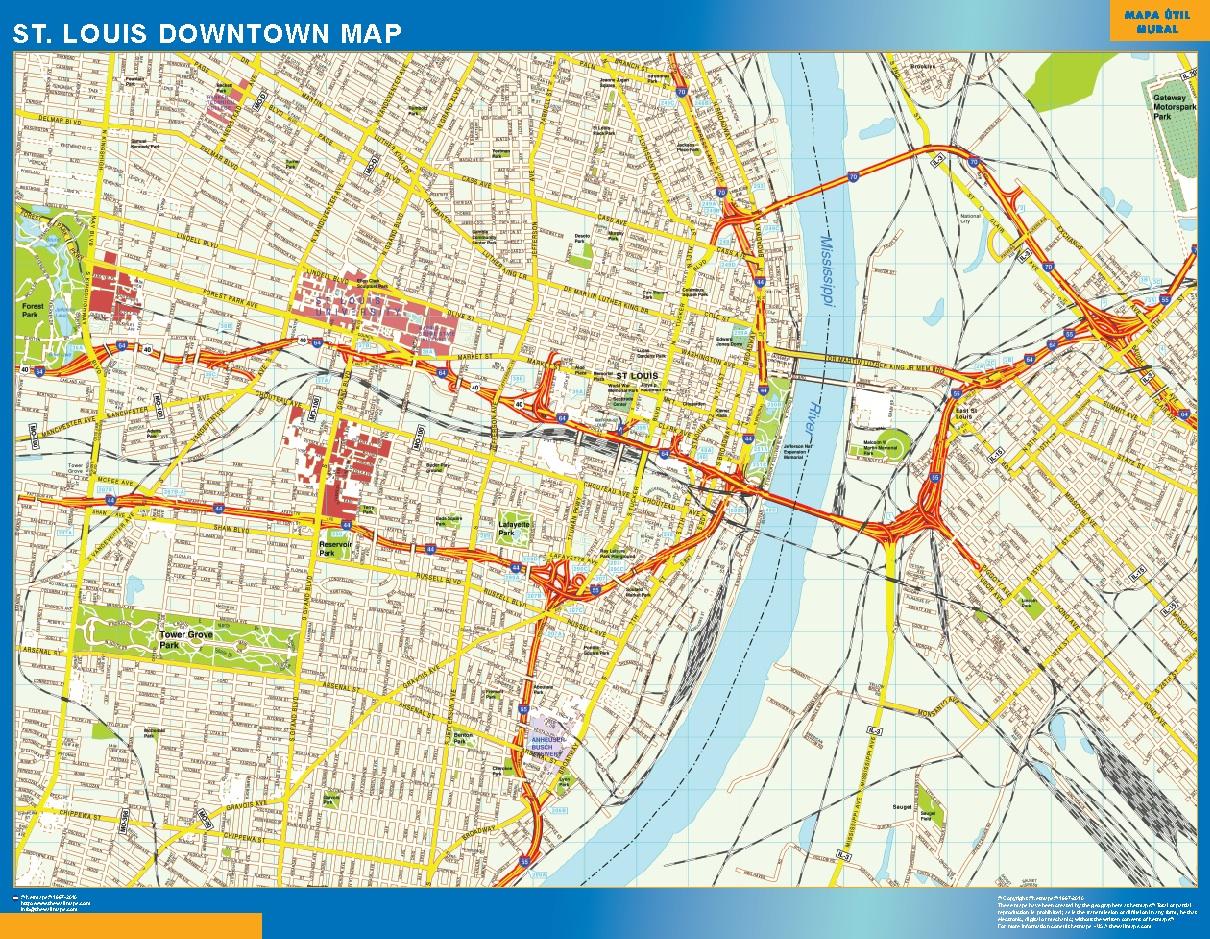 St Louis Mapa Centro