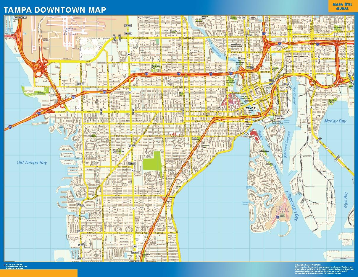 Tampa Mapa Centro