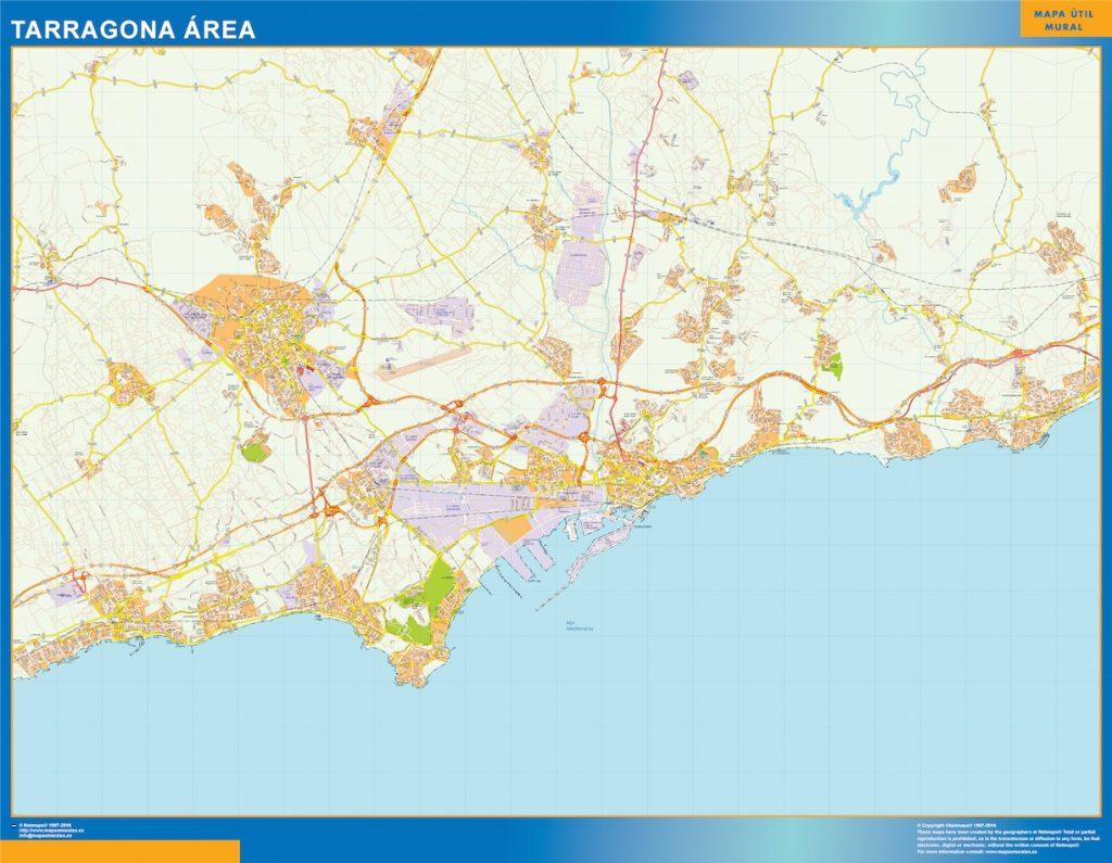 Tarragona Mapa Area