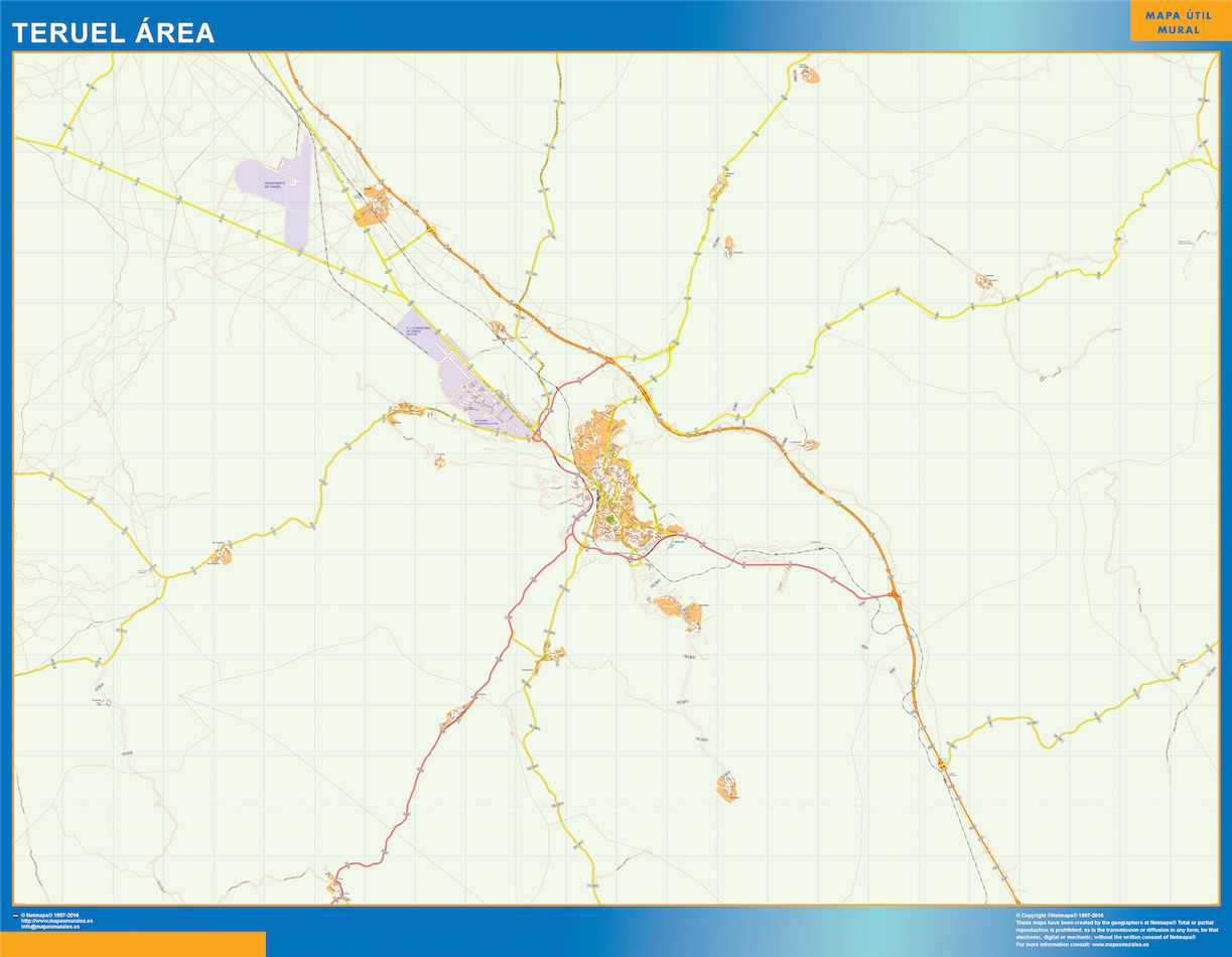 Teruel Mapa Area urbano