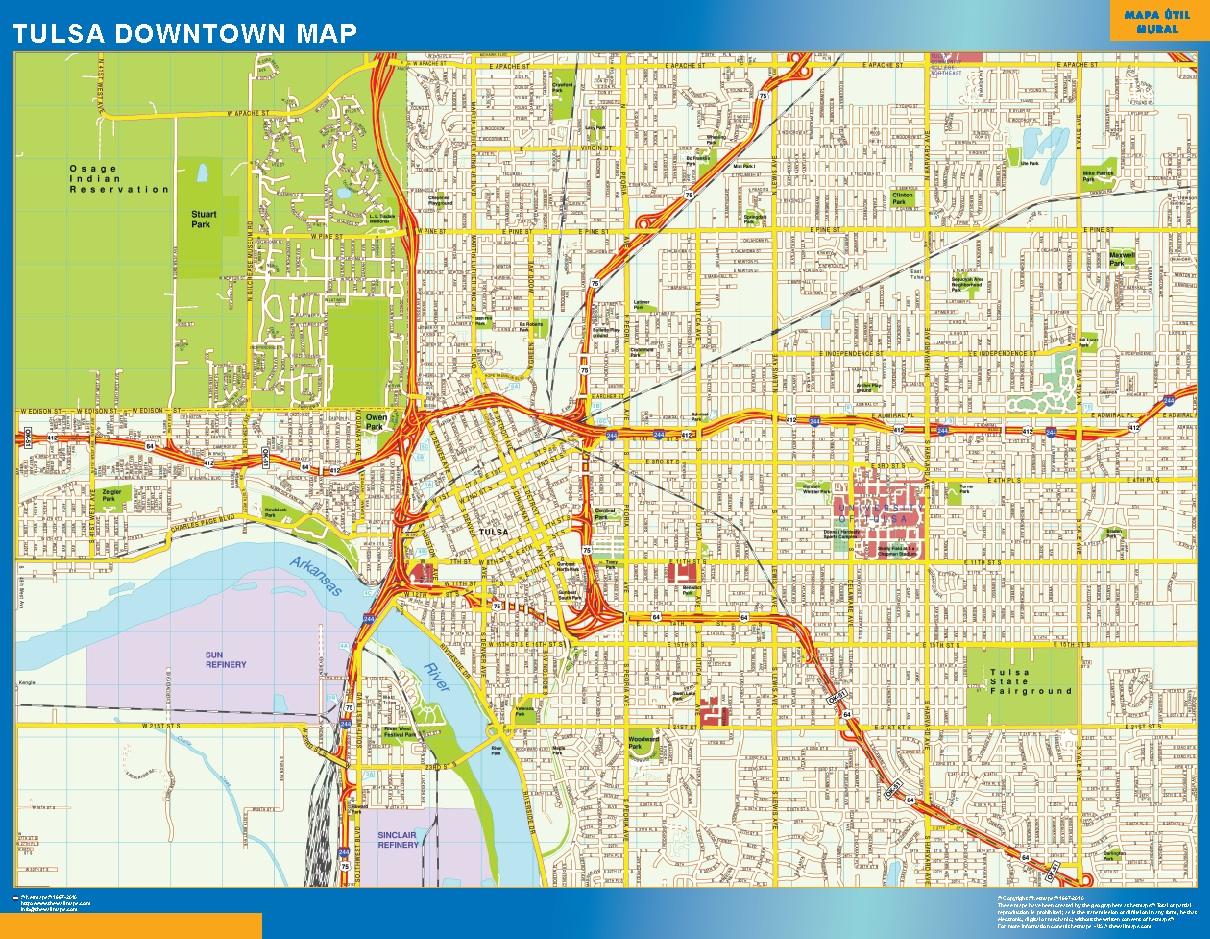 Tulsa Mapa Centro