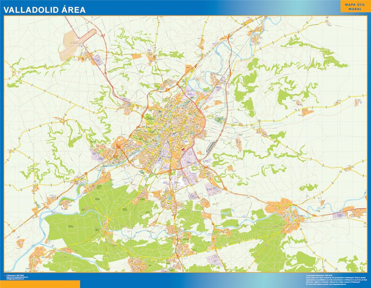 Valladolid Mapa Area