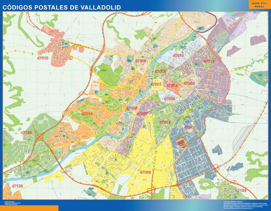 Mapa Valladolid Codigos Postales