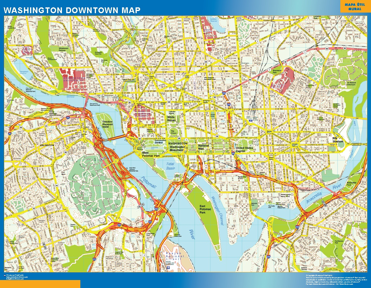 Washington Mapa Centro