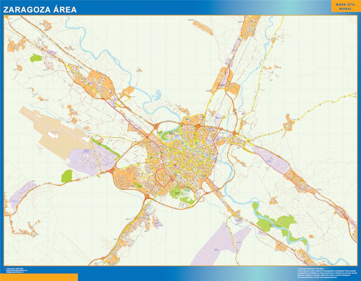 Zaragoza Mapa Area