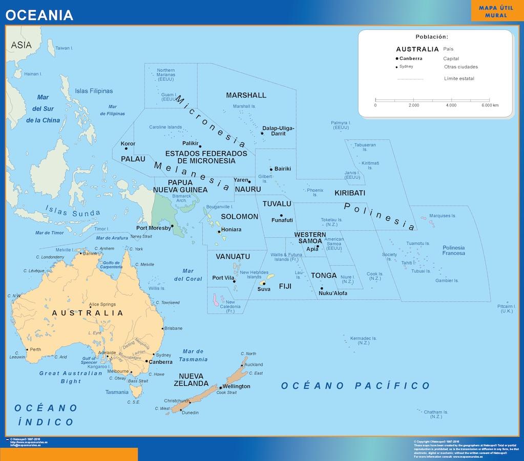 Mapa Oceania