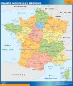 Mapa Nuevas Regiones Francia