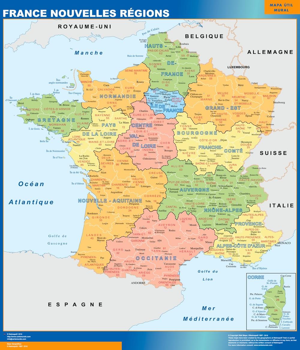 Cartes Nouvelles Regions France