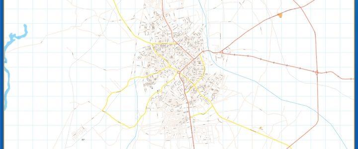 Mapa Benin City