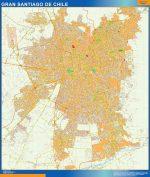 Mapa Gran Santiago Chile