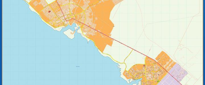 Mapa Yanbu