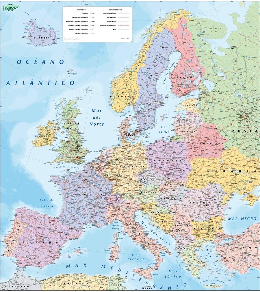 Mapa Europa paises