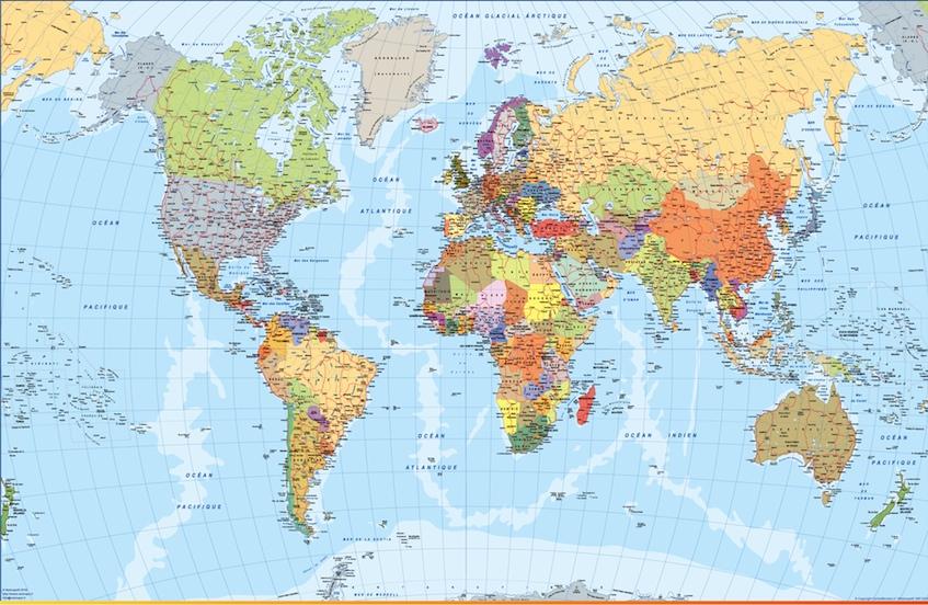 Mapa mundo frances