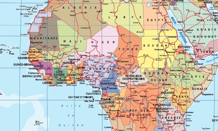 Zoom Mapa mundo frances