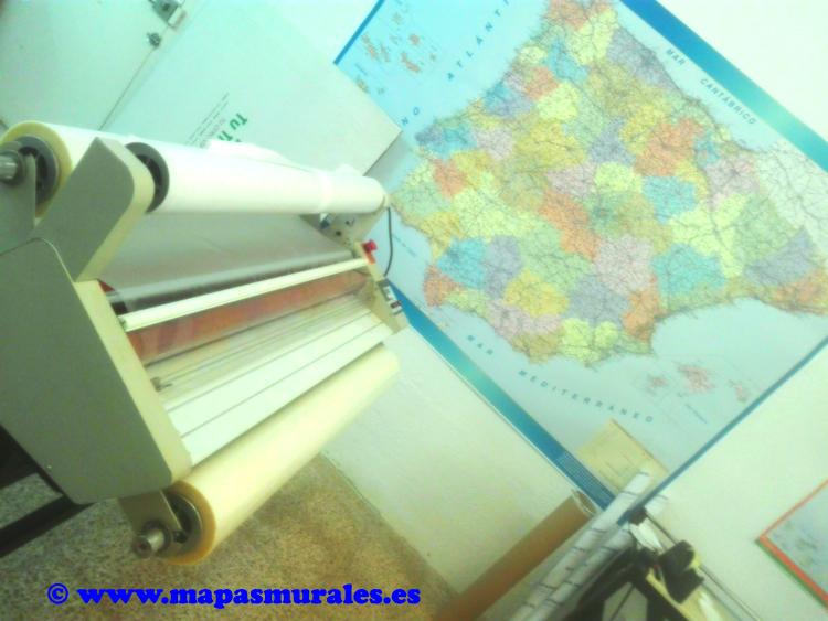 Maquina plastificar grande mapas