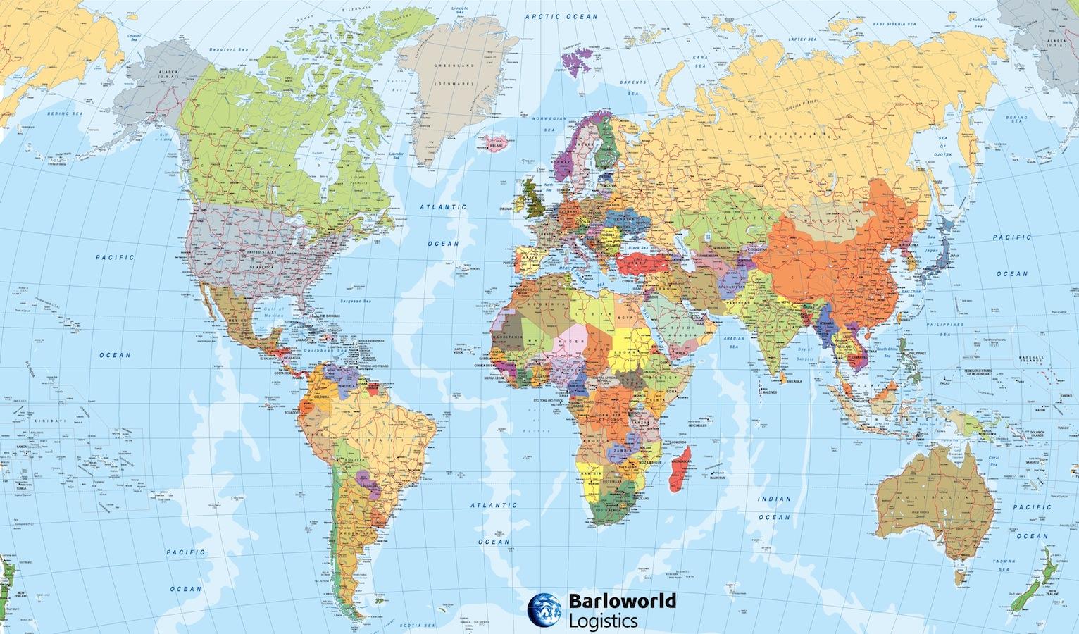 Mapa ingles brillo Barlo