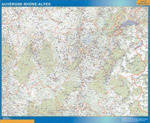 Mapa Region Auvergne-Rhone-Alpes